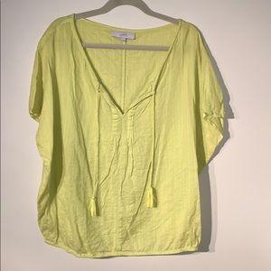 LOFT Lime Green Blouse